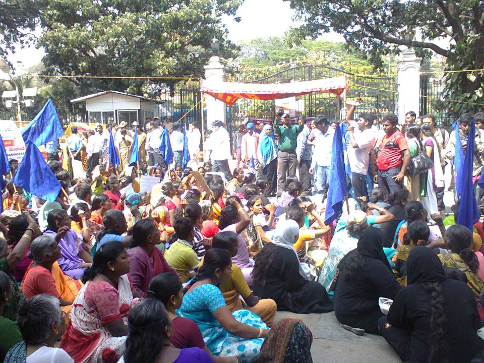 Women protesting to the deaf ears of BBMP
